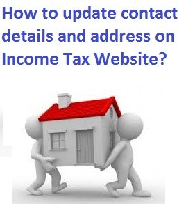 Change, Update address in income tax website