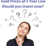 Gold Prices at 5 Year Low – Should you invest now?
