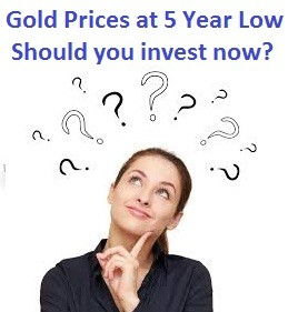 Gold Prices are falling-Should we invest in gold now in 2015