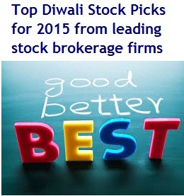 Top Diwali Stock Picks for 2015 - leading stock brokerage firms