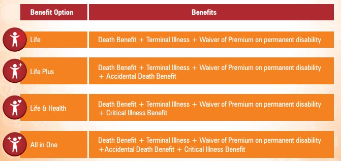 Benefit options-ICICI Pru iProtect Smart