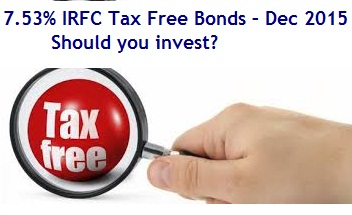 IRFC Tax Free Bonds – Dec 2015