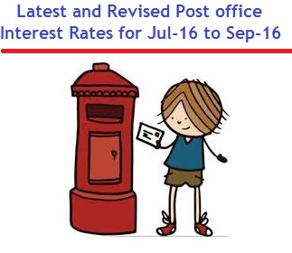 Latest post office interest rates Jul-16 to Sep-2016