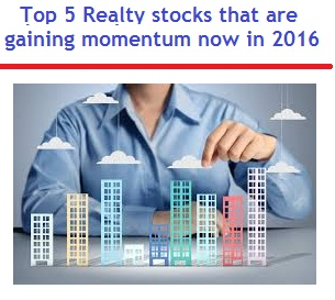 Top 5 Realty stocks to invest in India in 2016