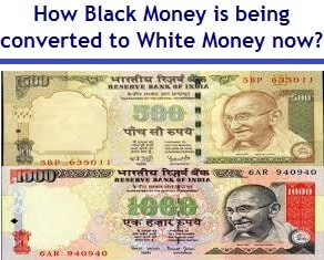 converting black money to white money