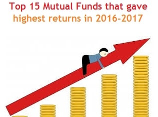 top mutual funds highest returns in 2016-2017