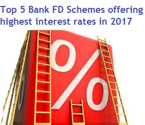 Top 5 Bank Fd Schemes Offering Highest Interest Rates In India 2017