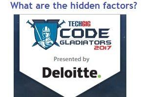 Rs 3 Crore – Code Gladiators 2017 contest – What are the hidden factors?