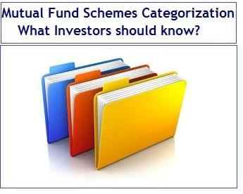 Mutual Fund Schemes Categorization – What Investors should know