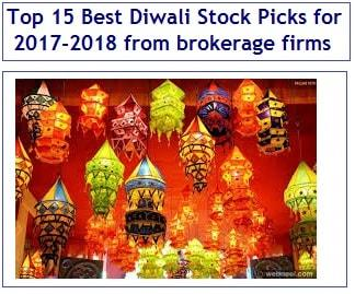 Top 15 Best Diwali Stock Picks for 2017-2018 from brokerage firms