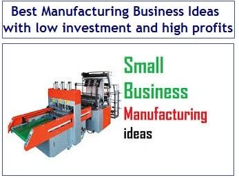 44 Best Manufacturing Business Ideas with low investment and high