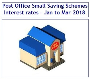Revised, Latest Post Office Small Saving Schemes Interest rates for Jan to Mar-2018