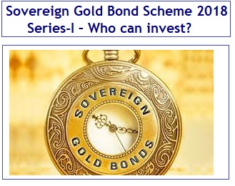 Sovereign Gold Bond Scheme April 2018 Series-I – Who can invest