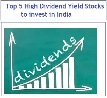 Top 5 High Dividend Yield Stocks to invest in India-min