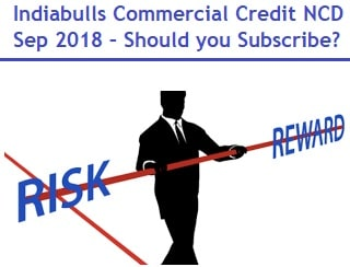 Indiabulls Commercial Credit NCD Sep 2018 Review