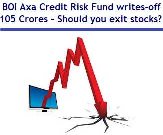 BOI Axa Credit Risk Fund writes-off 105 Crores – Should you exit stock markets?