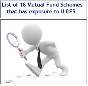 List of 18 Mutual Fund Schemes that has exposure to IL&FS