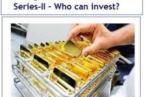 Sovereign Gold Bond Issue FY2019 Series-II – Who can inves