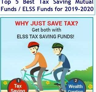 Top 5 Best Tax Saving Mutual Funds or ELSS Funds for 2019-2020