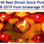 Top 40 Best Diwali Stock Picks for 2018-2019 from brokerage firms