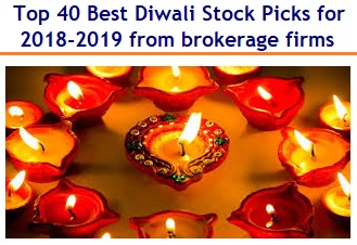 Top Best Diwali Stock Picks for 2018-2019 from brokerage firms