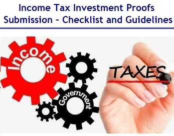 Income Tax Investment Proofs Submission Guidelines 2019