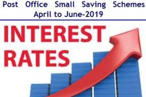 Latest Interest Rates of Post Office Small Saving Schemes – April to June-2019 Review