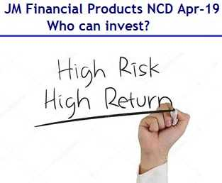 JM Financial Products NCD April 2019 – Who can invest