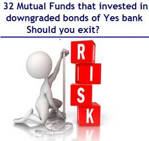 32 Mutual Funds Schemes that invested in downgraded bonds of Yes bank – Should you exit