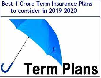 Best 1 Crore Term Insurance Plans in India in 2019-2020