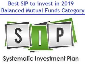Best SIP to invest in 2019 - balanced mutual funds