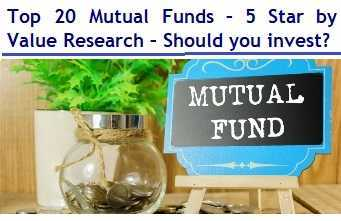 Top 20 Mutual Funds - 5 Star by Value Research in 2019