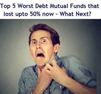 Top 5 Worst Debt Mutual Funds that lost upto 50% now – What Next