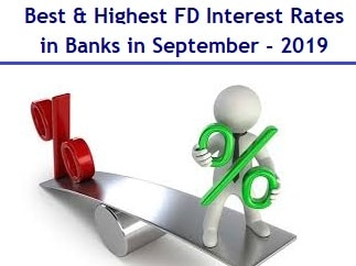 Best Highest Fixed Deposit Interest Rates in Banks in September-2019-min