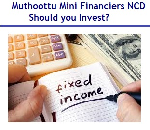 10.75% Muthoottu Mini Financiers NCD Aug 2019 Review