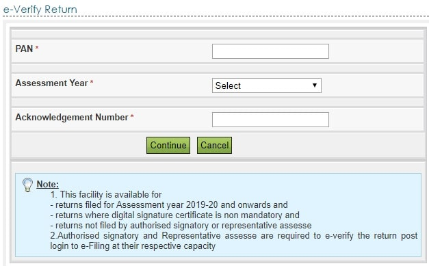Step-3- Step-by-Step to Verify ITR without logging into e-Filing account-min