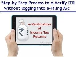Step-by-Step to e-Verify ITR without logging into e-Filing account-min