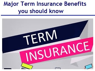 Major Term Insurance Benefits you should know