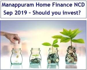 Manappuram Home Finance NCD Sep 2019 Review