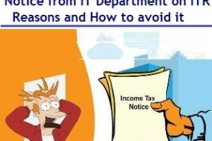 Notice from Income Tax Department – Reasons and How to avoid it