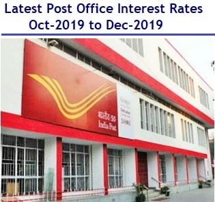 Latest Post Office Interest Rates – Oct-2019 to Dec-2019