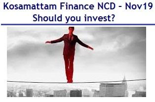 Kosamattam Finance NCD Nov 2019 Review