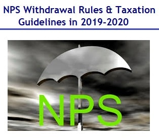 NPS Withdrawal Rules and Taxation Guidelines in 2020-min
