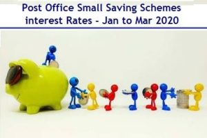 Post Office Interest Rates Jan-Feb-March-2020