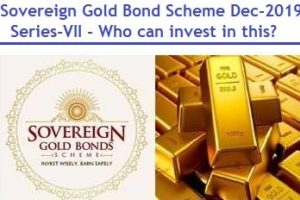 Sovereign Gold Bond Scheme Dec 2019 Series VII review