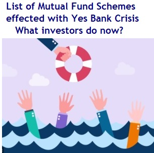 List of Mutual Fund Schemes effected with Yes Bank Crisis – What investors do now