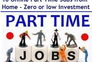 Online Part Time Jobs from Home - Zero or low investment