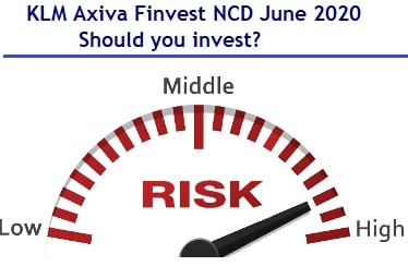 KLM Axiva Finvest NCD June 2020 Review