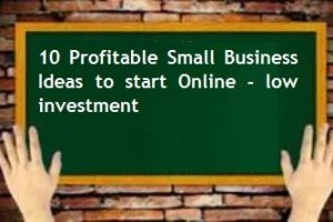 Small Business Ideas to start Online - low investment - High profits