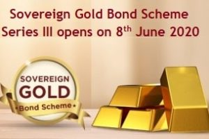 Sovereign Gold Bond Scheme Series III opens on 8th June 2020